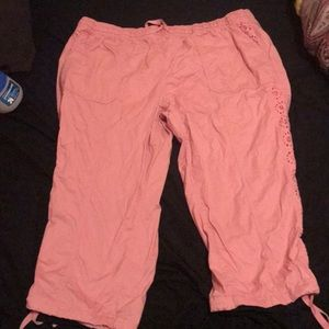 Pink pants. Worn once. From Lane Bryant. Plus size